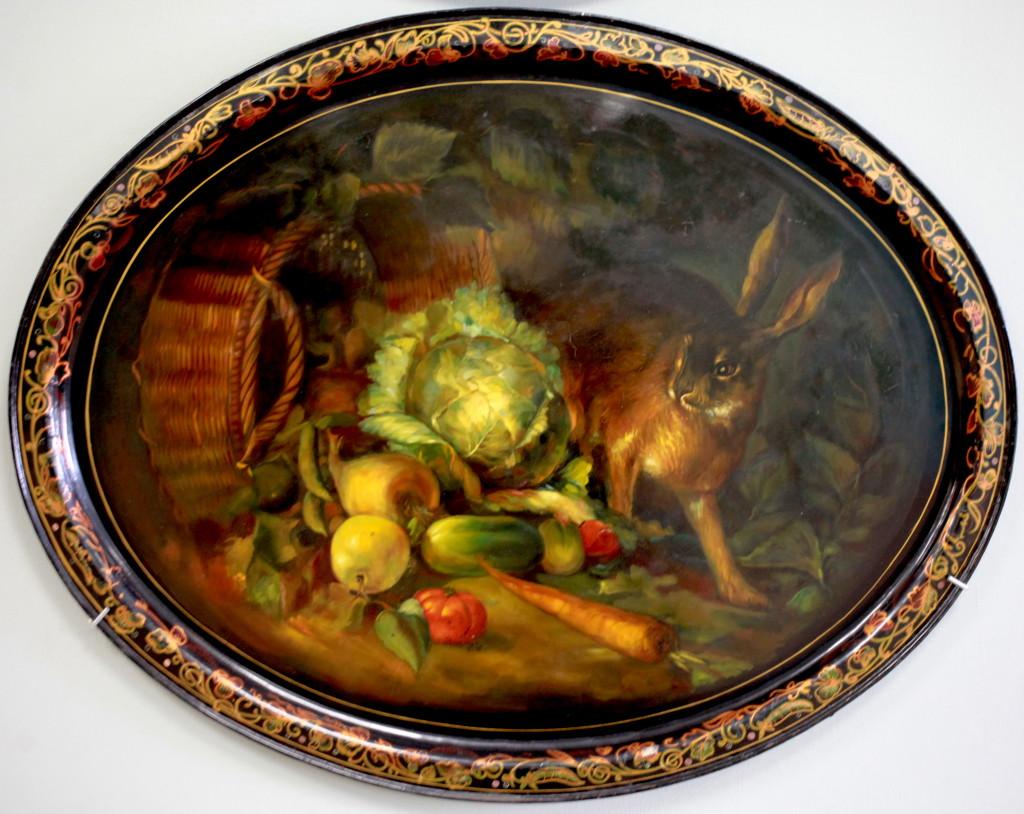 Практически голландский натюрморт, только не битая птица, а живой заяц