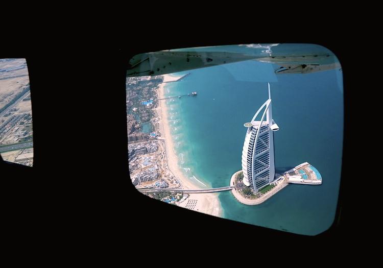 Дубай: как выглядит самый роскошный отель с воздуха