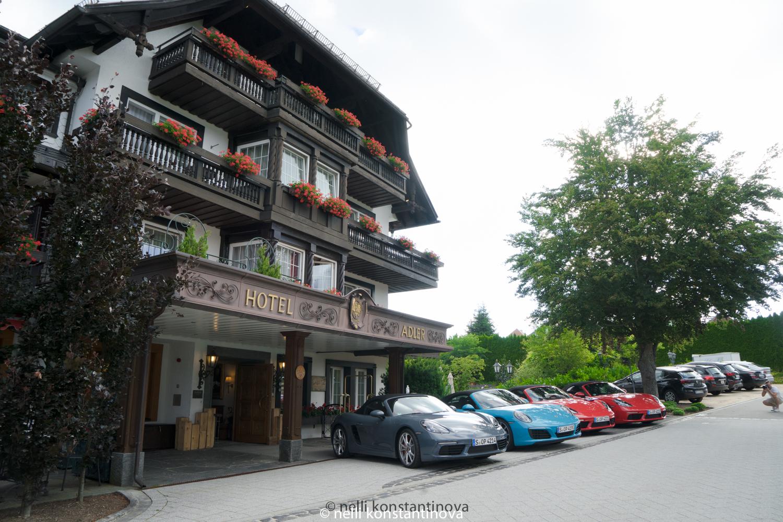 Как выглядит отель с рестораном, который дольше всех держит звезду Мишлен в Германии, Porsche tour, день 2