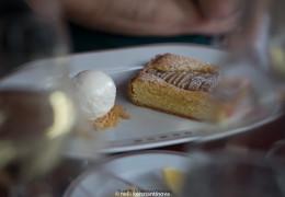 Торт а-ля франжипани и мороженым