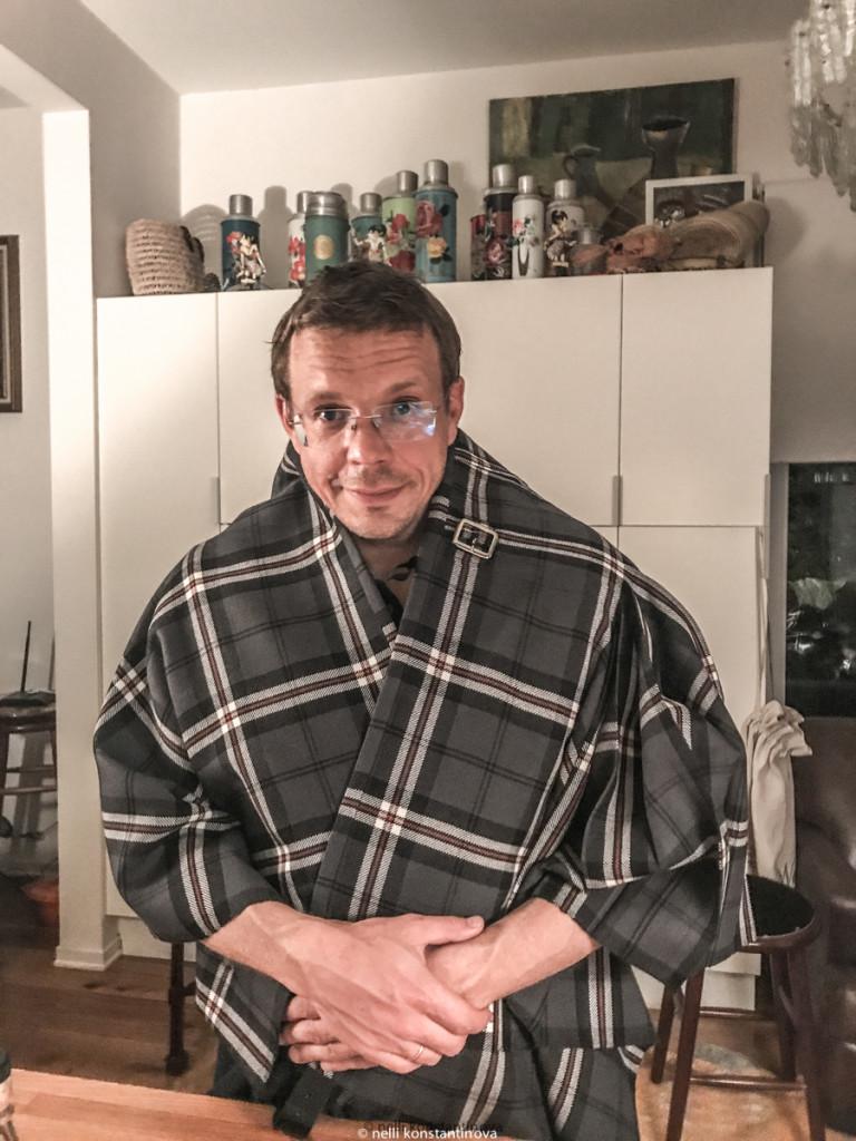 Муж Костя в дарёном килте клана Gray  Tompson