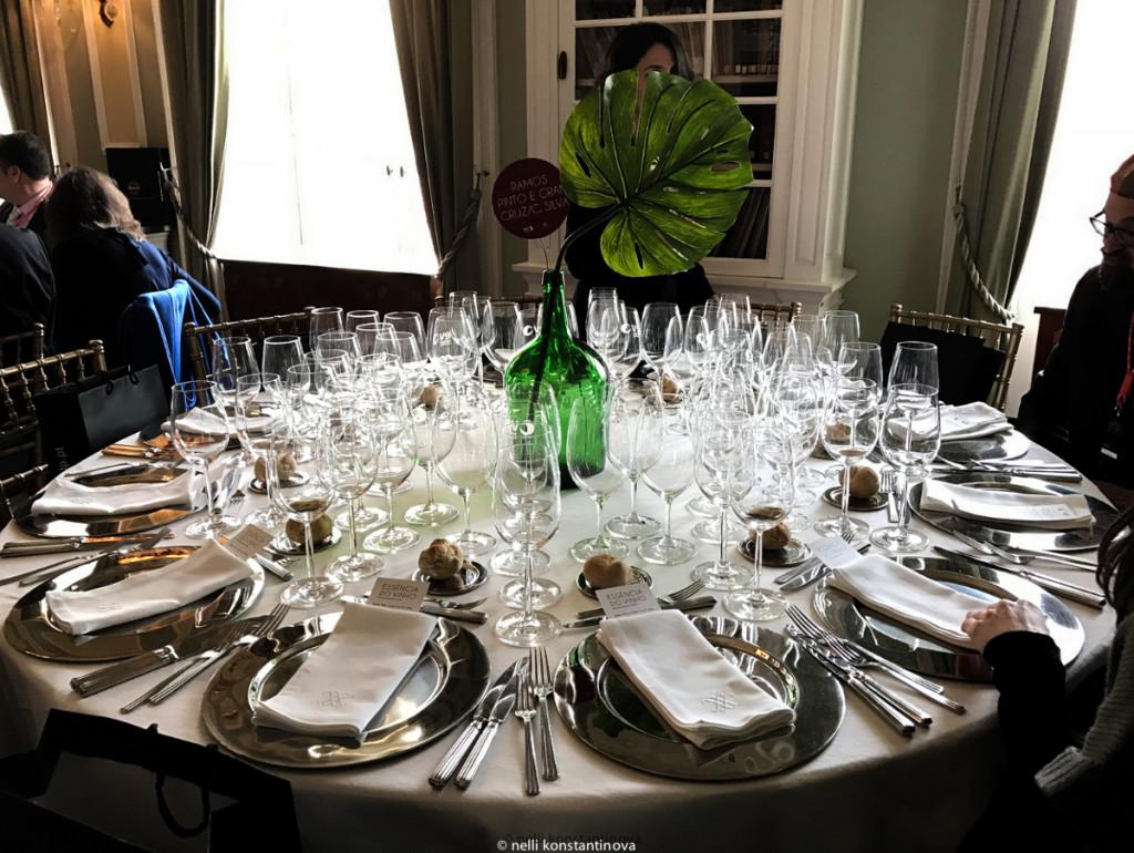 Что пили на обеде в честь открытия выставки вина Essencia do vinho в Порту