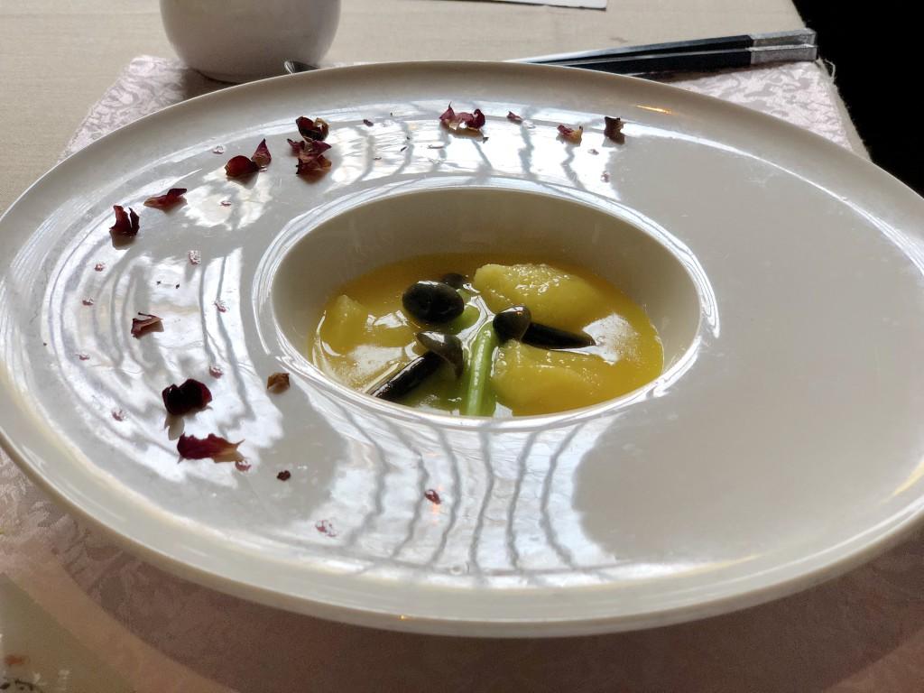 Соевый творог в тыквенном соусе