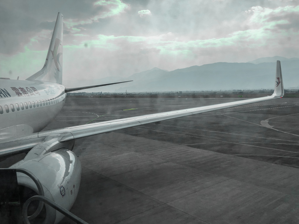 Самолет рейса Лицзян-Кунминь