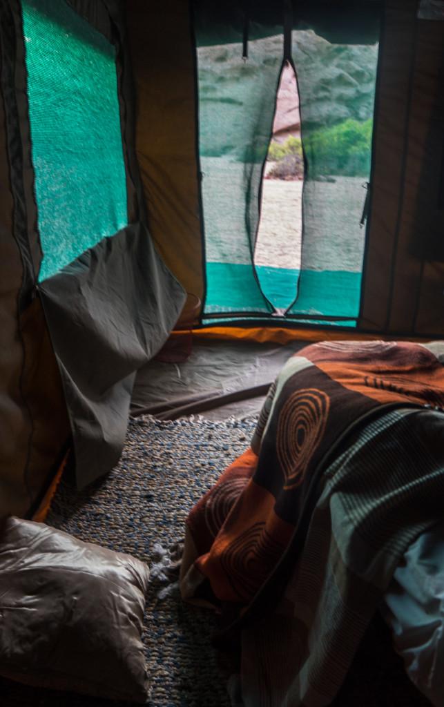 дверь палатки