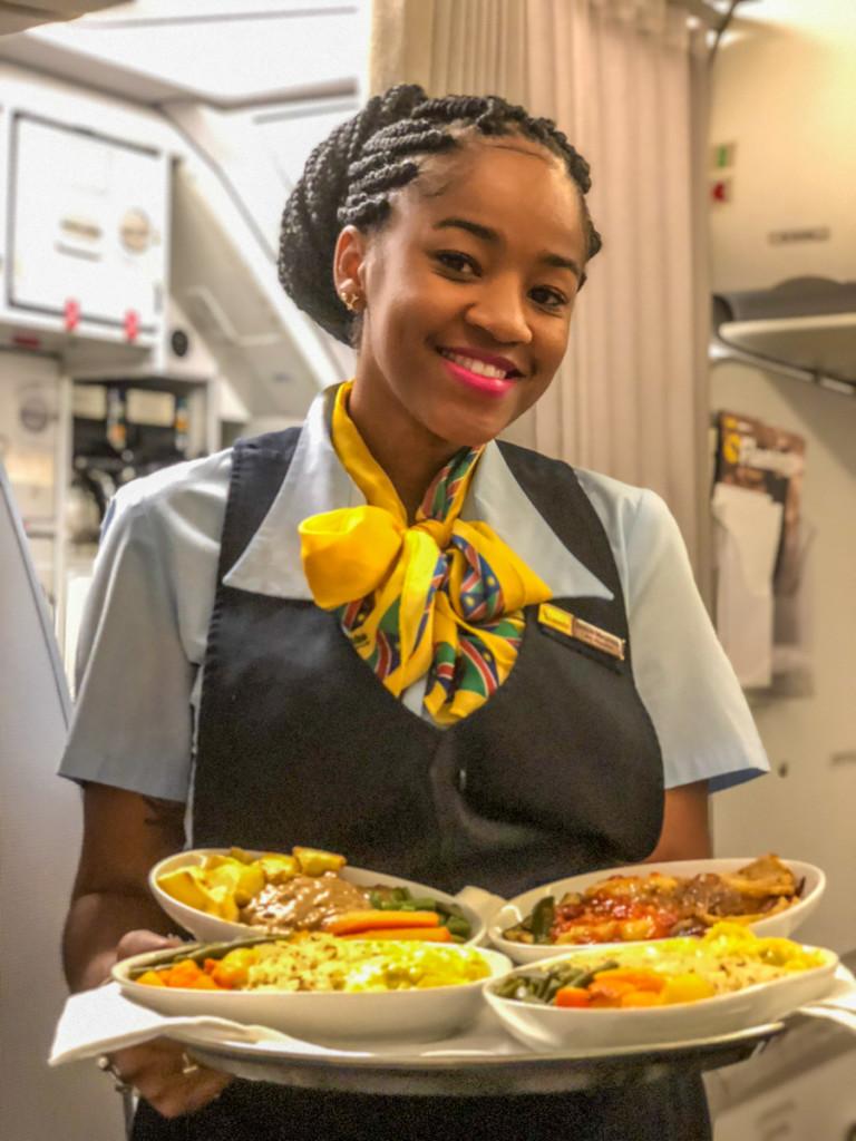 Еда на борту рейса Кейптаун-Виндхук