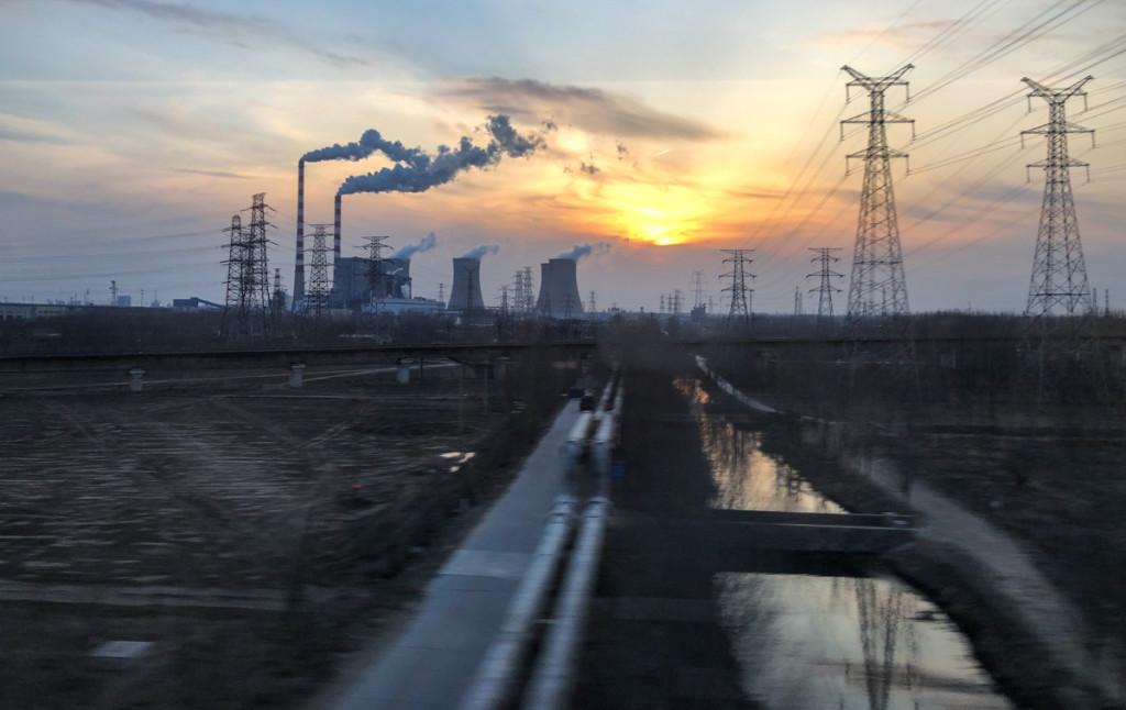 Вид из окна поезда Шанхай-Пекин