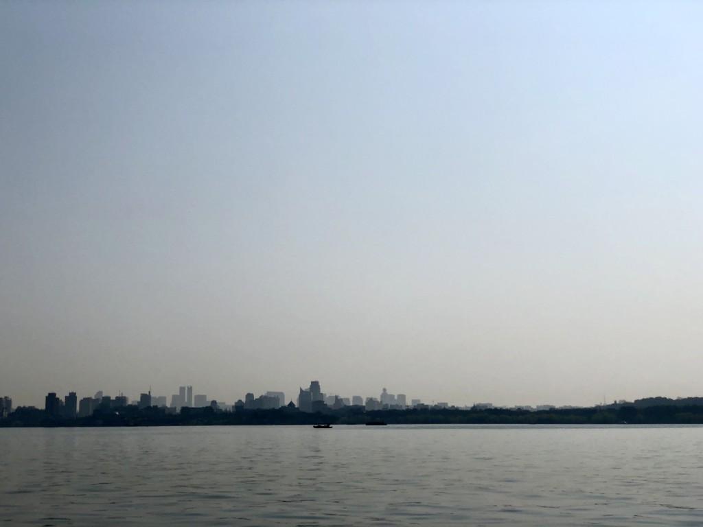 Горизонт с новыми домами Ханчжоу