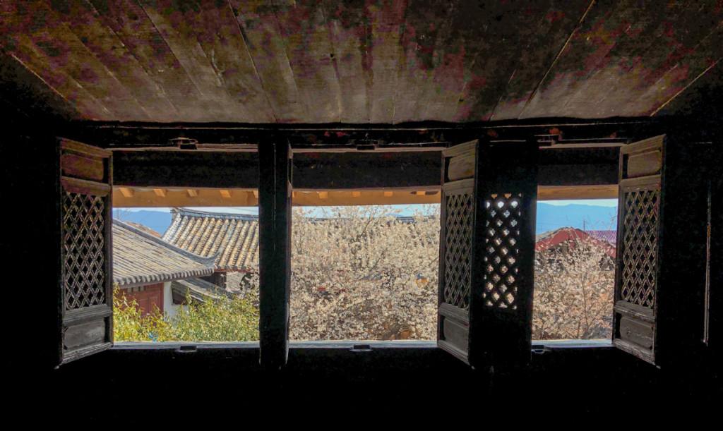 Окна во двор из комнаты Рока
