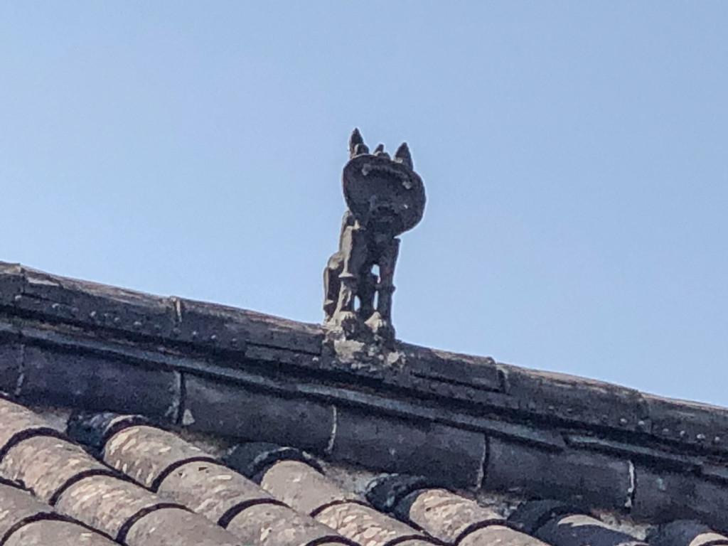 Кот на крыше –для охраны от чертей