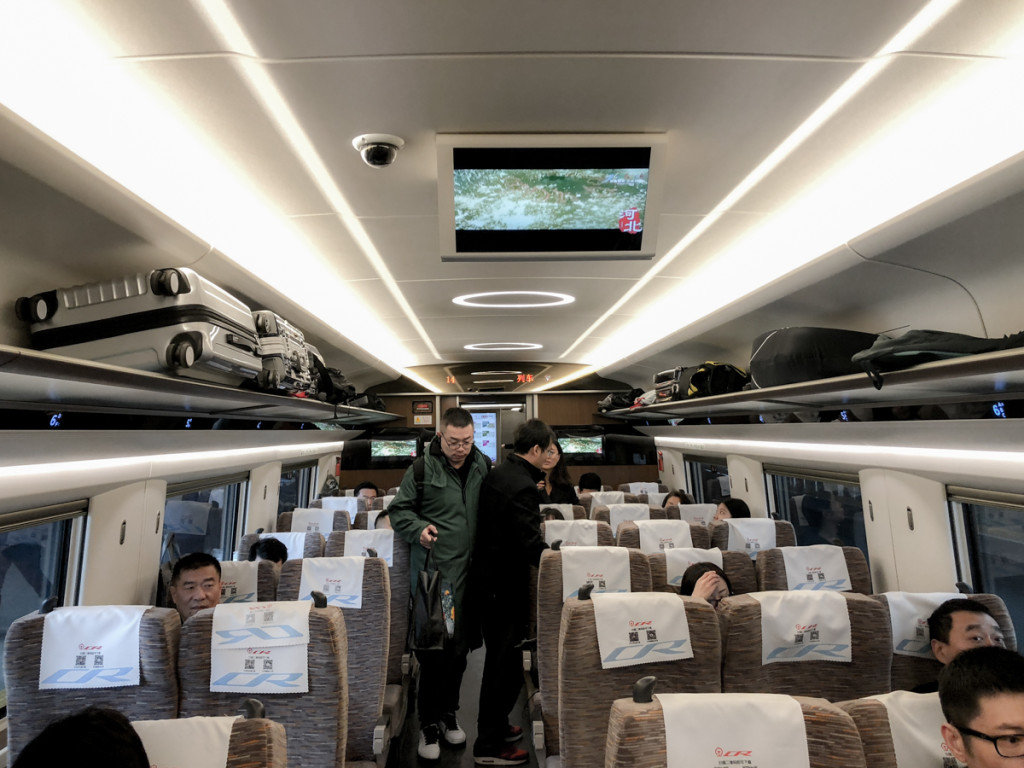 Вагон самого быстрого поезда в мире