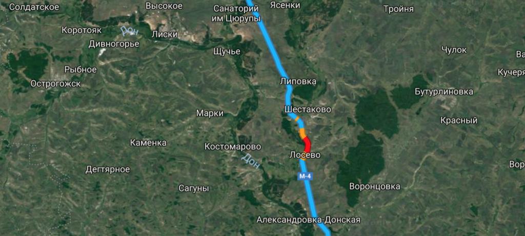 Дивногорье – слева по карте